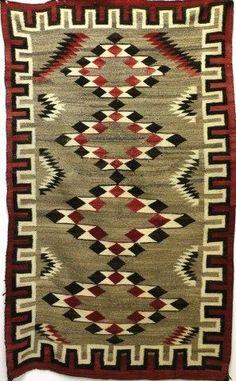 1900-1920's Navajo reginal rug