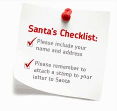 Details of where to send letter to Santa in the UK in order to get a reply.