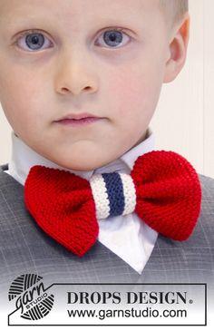 """Strikket DROPS sløyfe til mai i """"Safran"""" Knitting Patterns Free, Free Knitting, Free Pattern, Drops Design, Magazine Drops, Knitting For Kids, Make Time, Diy And Crafts, Knit Crochet"""