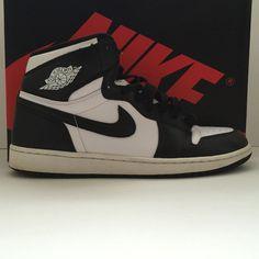 602b6b0621c Nike Air Jordan 1 I Retro High OG Black White Size 13