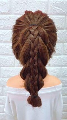15 simple summer hairstyles for long hair Summer Hairstyles, Pretty Hairstyles, Girl Hairstyles, Braided Hairstyles, Simple Hairstyles, Teenage Hairstyles, Toddler Hair, Hair Videos, Hair Designs