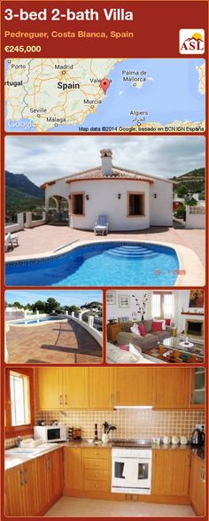 3-bed 2-bath Villa in Pedreguer, Costa Blanca, Spain ►€245,000 #PropertyForSaleInSpain