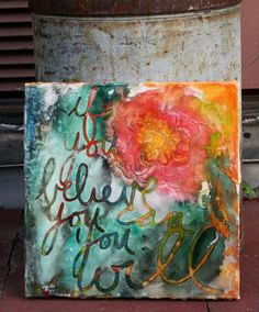 "Balzer Designs ""If You Believe You Can You Will"" stencil in 12x12"