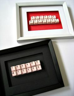 DIY Valentine's Keys- 22 Upcycled Keyboard Keys Ideas | DIY to Make
