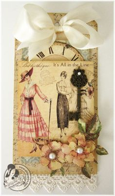 Try this A Ladies' Diary tag project sheet #graphic45 #projectsheets #tutorials