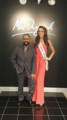 Mac posing with Miranda Fenzau, Miss Illinois Teen USA 2014, at the Atlanta showroom