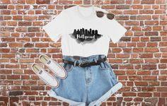 a10051461 Hollywood Skyline, Hollywood T-Shirt, LA Skyline, Hollywood, California,  skyline of hollywood, LA vacation t-shirt, tee, Men's Women's