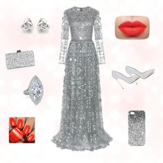 A day dream by giuliamulonia on Polyvore featuring polyvore, fashion, style, Valentino, Casadei, Edie Parker, Georgini and Topshop