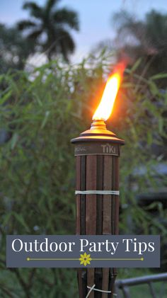 Great ideas for your next outdoor party, from seating and style to menu and mood, we have it covered. Enter to win a tropical tiki torch kit, too!