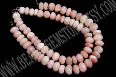 Pink Opal Rondelle Smooth Beads Quality B 8 to 9 mm 18#pinkopal #pinkopalbeads #pinkopalbead #pinkopalroundel #roundelbeads #beadswholesaler #semipreciousstone #gemstonebeads #beadsogemstone #beadwork #beadstore #bead