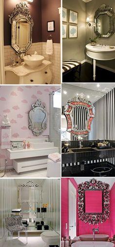 Decor Salteado - Blog de Decoração | Arquitetura | Construção | Paisagismo: Espelho veneziano - charme e sofisticação na decoração!