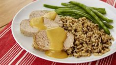 This honey-dijon pork tenderloin makes for an easy dinner with little prep. Preparing it in the slow cooker ensures that the meat is packed with flavor and super tender.