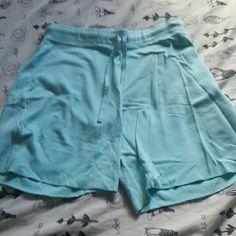 Knot Shorts Turquoise knit shorts. Worn once. Shorts
