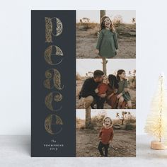 """""""Ornate Peace"""" - Foil-pressed Holiday Cards in Coal by Paper Dahlia. Paper Dahlia, Foil Stamping, Holiday Cards, Peace, Stampin Up, Room"""