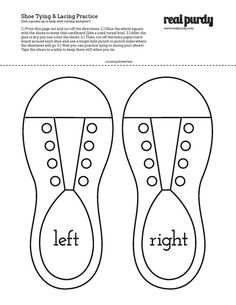 Shoe lacing/tying printable | Pete the Cat