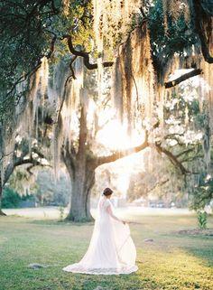 New Orleans Bridal Session - Photography: Nicole Berrett Photography - Spanish moss - garden wedding