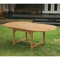 Grade A - Piemonte Teak Oval Extendable Dining Table - Sam's Club