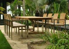 Riviera - 8 Seater Teak and Stainless Steel Garden Set