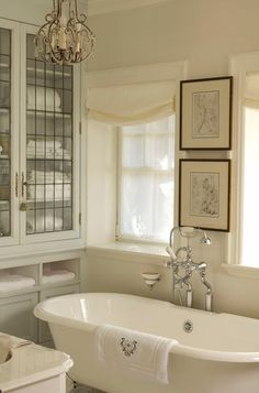 Add framed #art to create a spa sanctuary in your bathroom! | House and Home