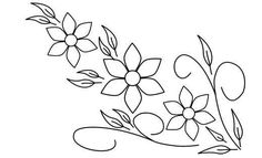 Drawings flowers to embroider by hand - Imagui . Floral Embroidery Patterns, Mexican Embroidery, Hand Embroidery Designs, Ribbon Embroidery, Embroidered Flowers, Flower Patterns, Beading Patterns, Flower Designs, Embroidery Stitches