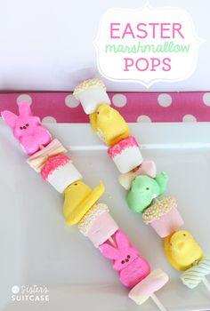 Easter Marshmallow Peeps on a stick! Fun gift or Easter Basket treat. Easter Snacks, Easter Peeps, Hoppy Easter, Easter Party, Easter Treats, Easter Recipes, Easter Food, Easter Desserts, Easter Stuff