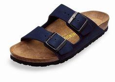 56f5010221b dark navy Birkenstocks Loved but still has lots of life left. Suede like  material Birkenstock Shoes Sandals