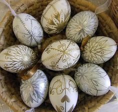 Hungarian egg painting