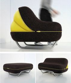 Eclosion: Pump up according to your mood. Cool seating design by Olivier Gregoire.
