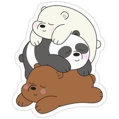 Official We Bare Bears fan art featuring your favorite characters. Stickers Cool, Stickers Kawaii, Preppy Stickers, Cute Laptop Stickers, Cartoon Stickers, Tumblr Stickers, Cartoon Wallpaper, Bear Wallpaper, We Bare Bears Wallpapers