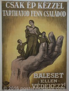 Csak Ep Kezzel Tarthatod Fenn Csaladod Their lively hood is in your hands. Talk To The Hand, Vintage Posters, Retro Posters, Budapest Hungary, King Kong, Illustrations And Posters, New Art, Book Art, The Past