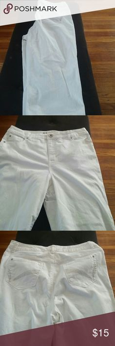 Cropped white jeans. Cropped white Style & Co jeans with jeweled pockets on the back. Classic style and the jeweled pockets add a modern twist. Style & Co Jeans Ankle & Cropped