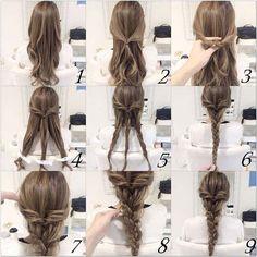 20 Terrific Hairstyles For Long Thin Hair. 20 Terrific Hairstyles For Long Thin Hair. 20 Terrific Hairstyles For Long Thin Hair. Braided Hairstyles Tutorials, Easy Hairstyles For Long Hair, Box Braids Hairstyles, Braids For Long Hair, Bridal Hairstyles, Indian Hairstyles, Braids Easy, Simple Braided Hairstyles, Simple Braids