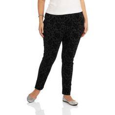Plus Size Faded Glory Women's Plus Jeggings, Size: 1XL, Black