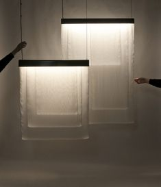 light volumes – delicate luminaires that catch the light in layered loops of silk Wall Lights, Delicate, 3d, Silk, Studio, Lighting, Projects, Home Decor, Light Fixture