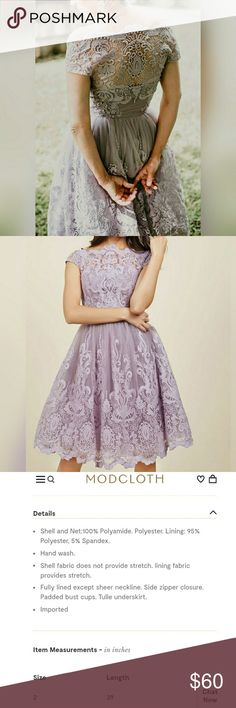 Modcloth Chi Chi London Tulle Lilac Dress Modcloth Chi Chi London Tulle Lilac Dress size 2 Currently for sale on Modcloth.com for $175 Worn once for a wedding. Price is set. Modcloth Dresses