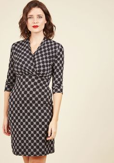328566d26c6 New Arrivals - Tile and Again Knit Dress in Black Frock Fashion, Fabulous  Dresses,. ModCloth