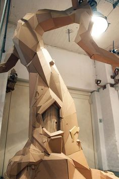 {Cardboard tree by Bartek Elsner} - Angles create interest within simple objects