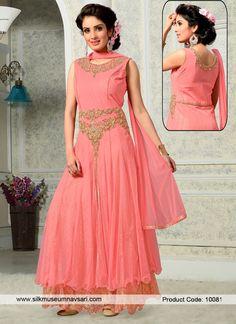 Exquisite Net Cut Dana Designer Gowns