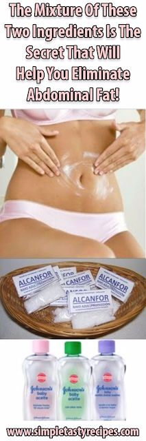 The Mixture Of These Two Ingredients Is The Secret That Will Help You Eliminate Abdominal Fat! | HEALTHYTIPS