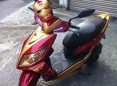 Iron Man mod moped