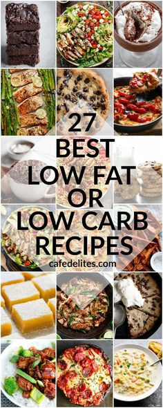 27 BEST LOW FAT & LOW CARB RECIPES TO KICK START YOUR NEW YEARS RESOLUTIONS! These recipes are the most popular, healthier, low fat or low carb recipes!