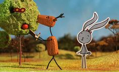 Like most friends, Rabbit and Deer don't have quite everything in common, but at least they're both characters. Things change rapidly in this ingenious and sweet short film when Deer enters the third dimension while his friend is still Beau Film, Animation Stop Motion, Animation Film, Once Upon A Time, Love Short Film, Stick Figure Animation, Comedy Short Films, Rabbit Names, Film Anime