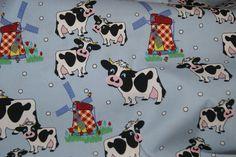 Stenzo 14 4067-09 Cotton poplin koe lichtblauw