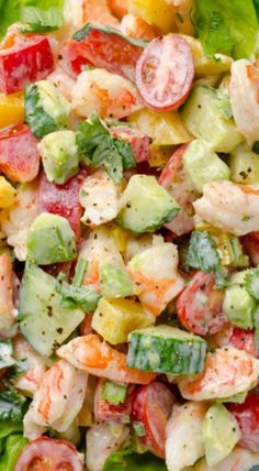 greek yogurt shrimp avocado salad