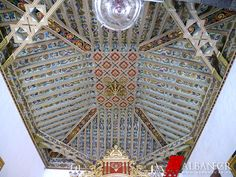 Armadura de lazo en el presbiterio de la ermita de las Angustias. © Albanécar, 2015. Moorish, Islamic Art, City Photo, Tower, Wood, Coffered Ceilings, Las Palmas, Armors, Islands