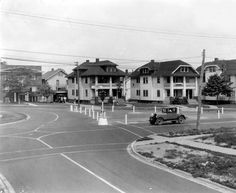 Looking west along Franklin Blvd. at the new traffic pattern at the Warren-Hilliard-Franklin intersection. 1929 Lakewood Ohio, Countries, Sweet Home, Childhood, Street View, United States, Memories, Mansions, House Styles