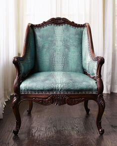 crocodiles, turquoise, antique chairs, colors, furnitur, aqua, leather, piano room, blues