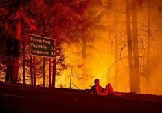 #Fire -threatening to hump across Hwy 50 @Pollock Pines ~ 9.16.14 ~