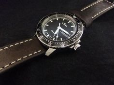 Sinn Watch 104 St Sa I Vintage Leather 104.010 Leather Strap Watch