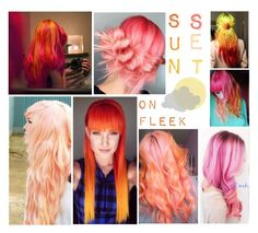 """""""Hair Inspiration: Sunset"""" by adsouza614 ❤ liked on Polyvore featuring art"""